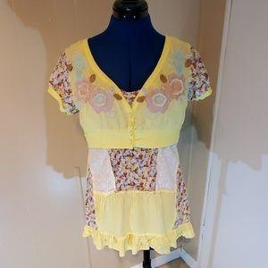 Lulumari embroidered patchwork shirt